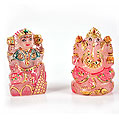Rose Quartz Laxmi Ganesha (Pair)